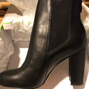 Sam Edelman Black Leather Case Chelsea Booties